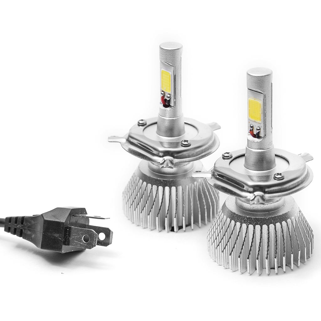 Biltek LED High Beam Conversion Bulbs for 2013-2015 Harley Davidson FXSB Breakout (H4 / 9003/HB2 (High/Low Beam) Bulbs)