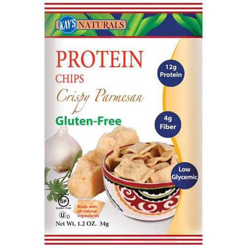 Kay's Naturals Crispy Parmesan Protein Chips, 1.2 oz, (Pack of 6)