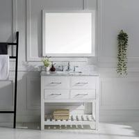 Virtu Caroline Estate 37'' Single Bathroom Vanity Set with Mirror