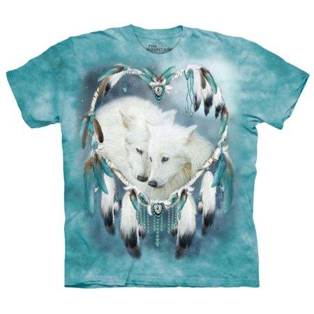 100% Tie (Blue 100% Cotton Wolf Heart Graphic Novelty)