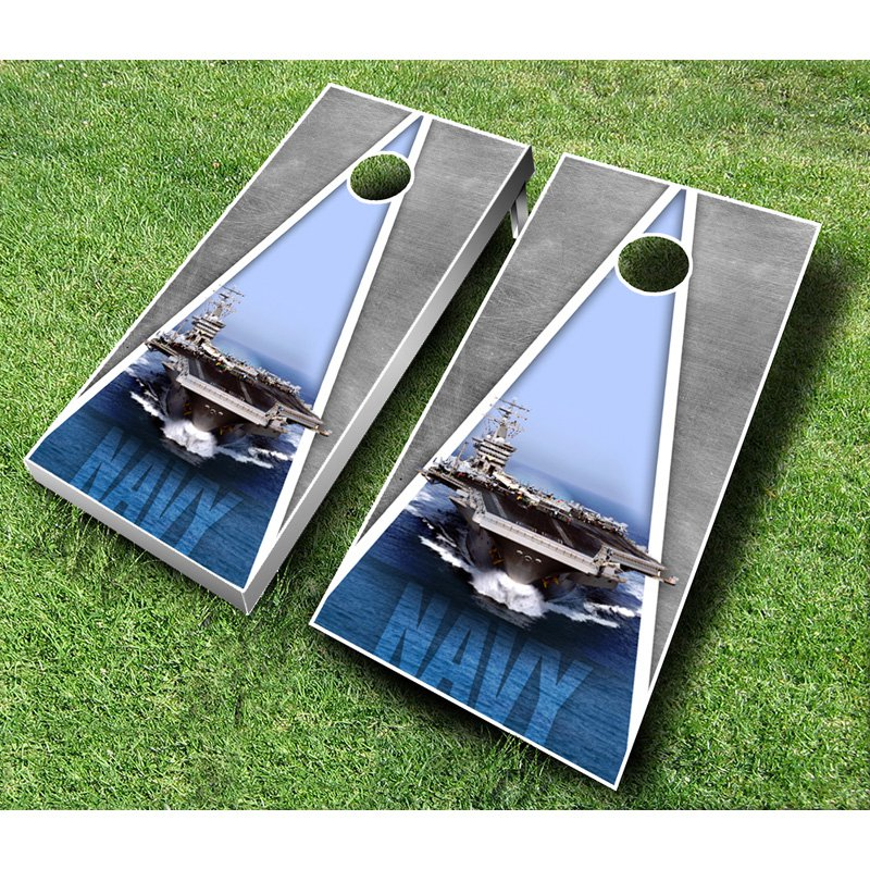 US Navy Cornhole Set with Bags by AJJ Cornhole