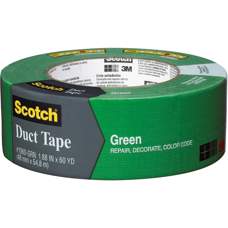 "3M 1060-GRN-A 1.88"" x 60 Yards Green Scotch Duct Tape"