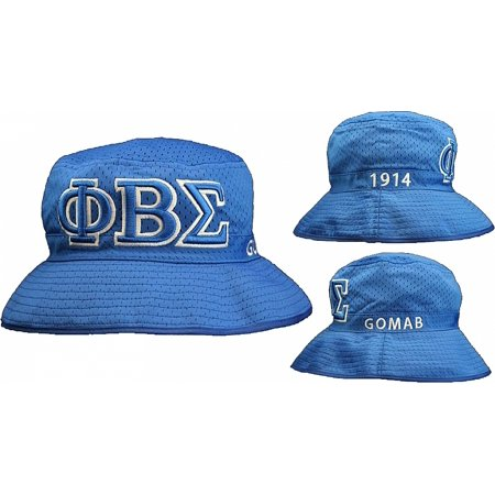 Cultural Exchange - Phi Beta Sigma Embroidered Bucket Hat  Blue - S M  -  Walmart.com 6ff0fb85071