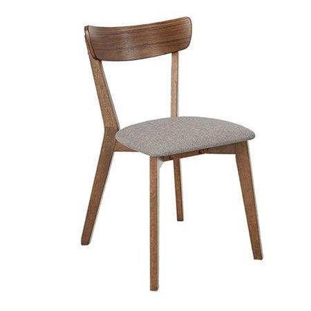 Progressive Furniture D829-61 30 x 18 x 22 in. Arcade Dining Chairs - Walnut, Set of 2 Walnut Dining Room Furniture
