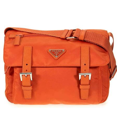 Prada Nylon Messenger Bag - Papaya