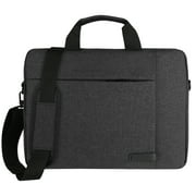 """Cerco Laptop Shoulder / Briefcase Universal Bag With Strap Compatible with 15"""" / 16"""" Inch Laptops, MacBook Pro, Surface Book Pro, Asus, Hp, and Dell Laptops For School, Travel, and Work (Black)"""