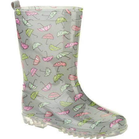 Dainty Umbrellas Printed Girls' Jelly Rain Boots