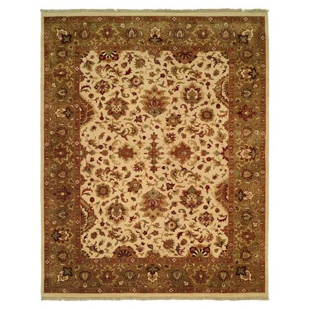 K2 Floor Style Royale Soft Camel/Pale Green Hand Made Wool Area Rug