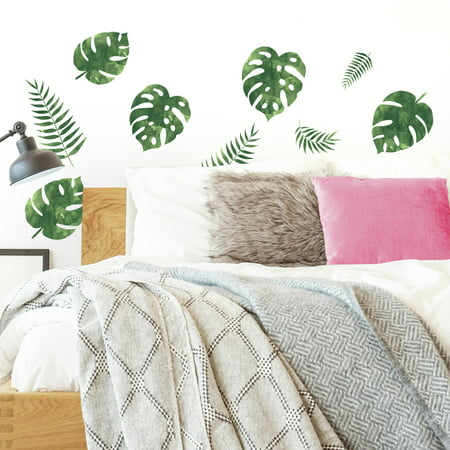 - Palm Leaves Peel and Stick Wall Decals