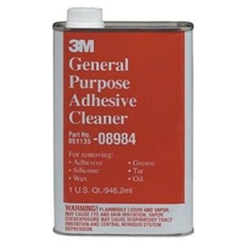 3M 08984 General Purpose Adhesive Remover & Cleaner, Quart, 6-Pack