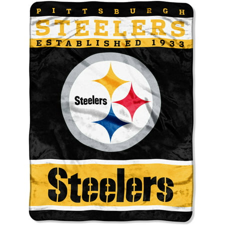 "NFL Pittsburgh Steelers 60"" x 80"" Raschel Throw by"