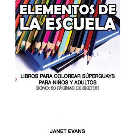 Elementos de la Escuela : Libros Para Colorear Superguays Para Ninos ...