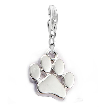 Dog Carrier Charm (SEXY SPARKLES Dog Paw Clip on Lobster Clasp Claw Charm for)