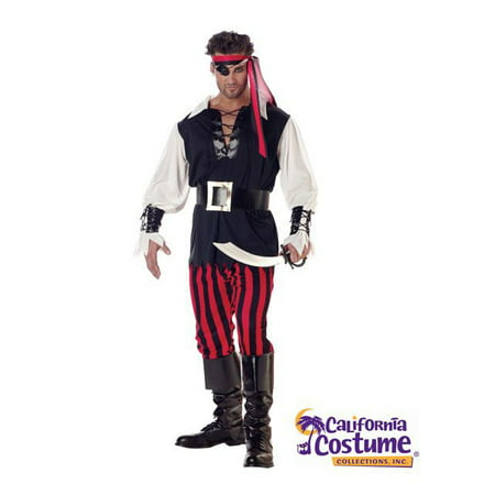 Adult Sized Cutthroat Pirate Costume - Adult Male Pirate Costume