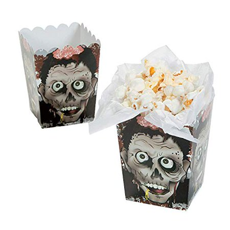 Halloween Zombie Head Mini Popcorn Boxes - 24 Count - image 1 de 1