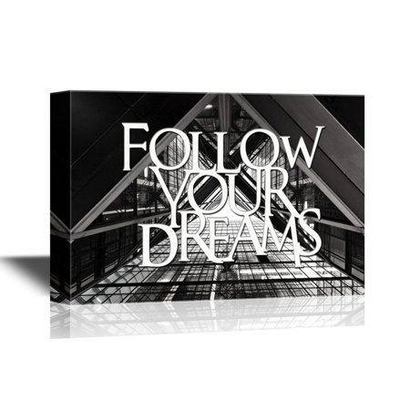 wall26 famous quotes canvas wall art follow your dreams gallery