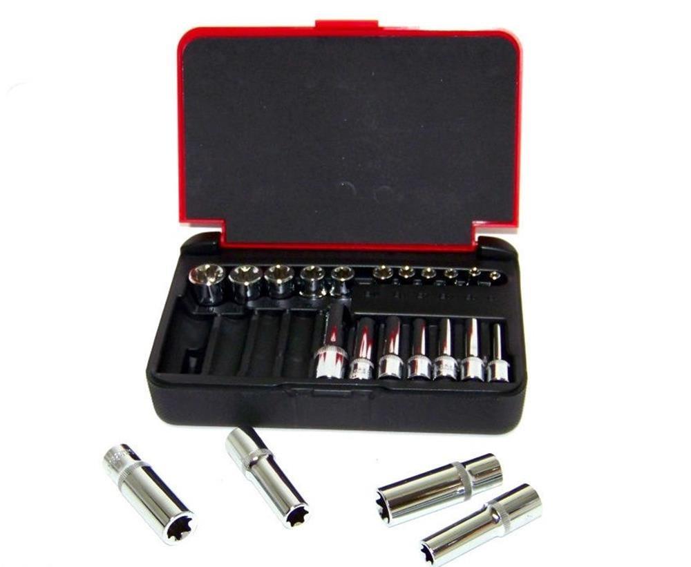 "Socket Sets22 PC 1 4"" & 3 8"" DR. Female TORX Socket Set Star Socet E4-E10... by"