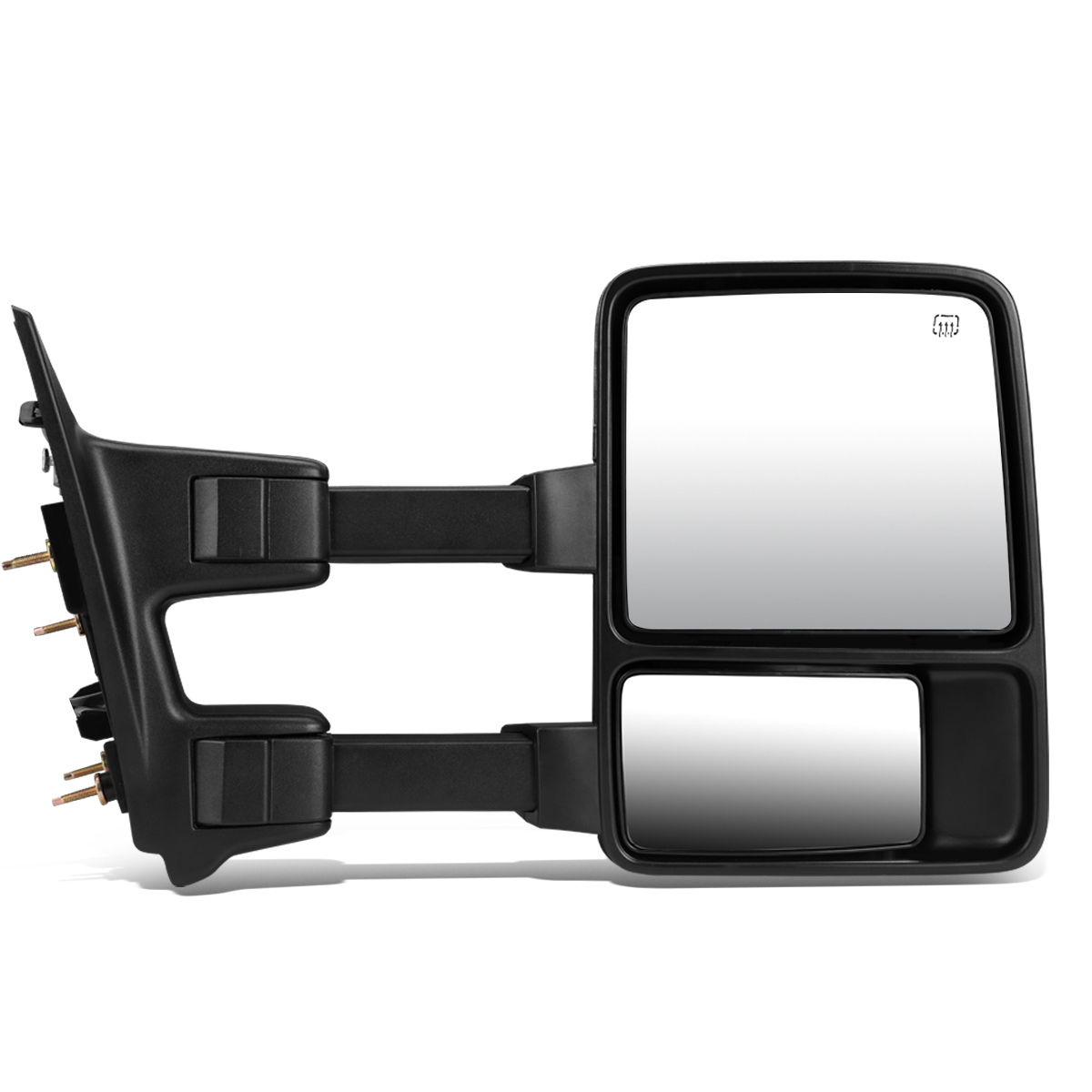 For 1999-2007 Ford Super Duty Powered w/Heated+Amber LED Turn Signal Towing Mirror (Right/Passenger)