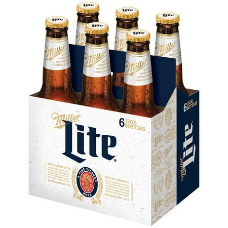 Miller Lite Beer 6 Pack 12 Fl Oz Walmart Com