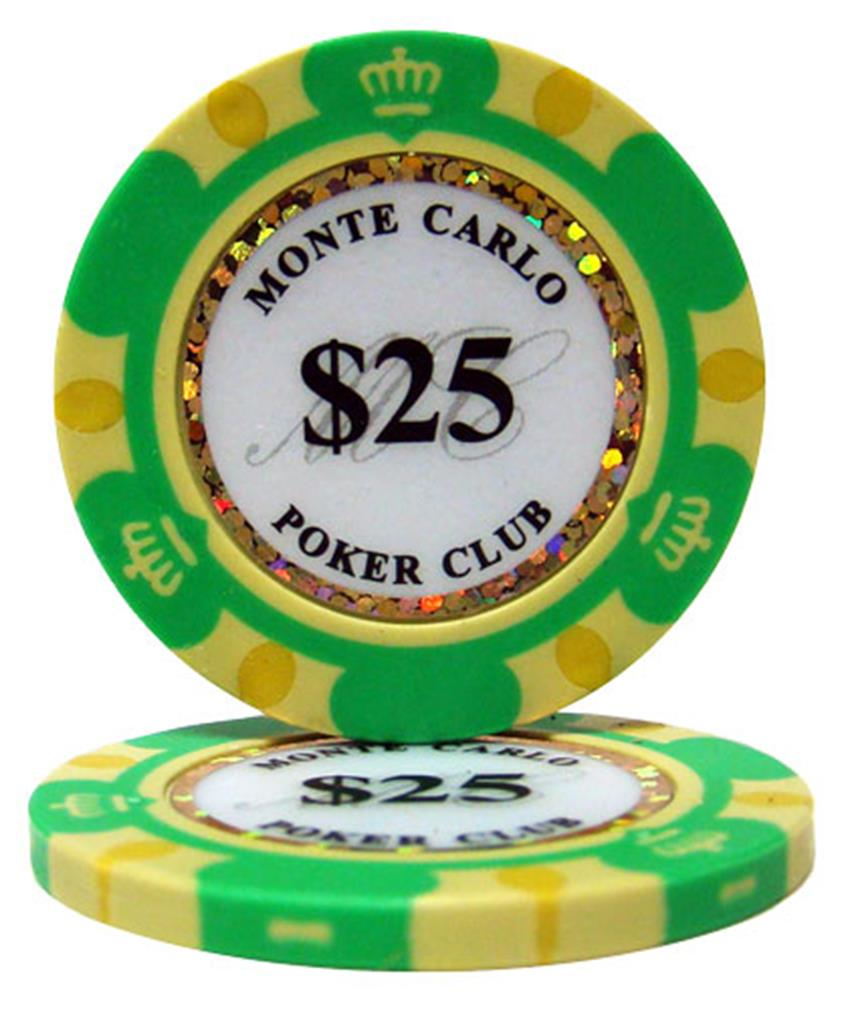 """Roll of 25 $25 Monte Carlo 14 Gram Poker Chips"" by BryBelly"