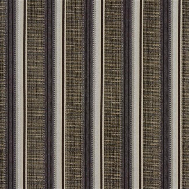 Designer Fabrics A372 54 in. Wide Brown Silver And Ivory Striped Tweed Textured Metallic Upholstery Fabric