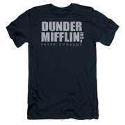 The Office Comedy TV Series Dunder Mifflin Distressed Adult Slim T-Shirt Tee