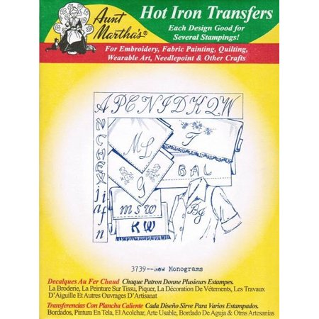 New Monograms Aunt Martha's Hot Iron Embroidery Transfer