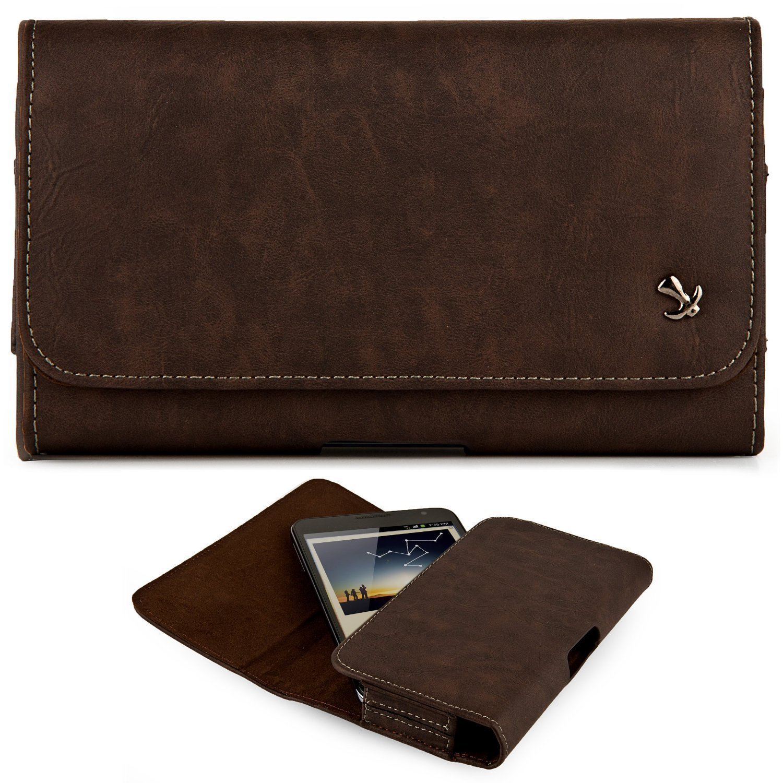 Black3 Horizontal Belt Clip Holster Leather Pouch Case for Apple iPhone 7 Plus Apple iPhone 8 Plus Apple iPhone 6 Plus