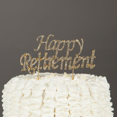 Happy Retirement Cake Topper Party Supplies Retire Gift Decoration