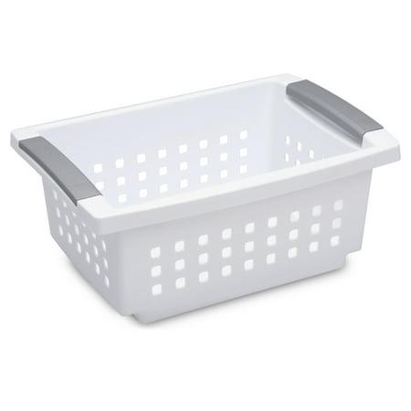 Sterilite, Small Stacking Basket, White