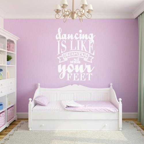 Sweetums Dancing Is Like Dreaming 18 x 24 Wall Decal