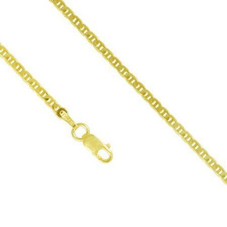10K Yellow Gold Men Women's 2.0MM Mariner Anchor Thick Necklace Link Lobster Clasp, 18-24 Inches (22)