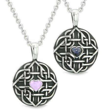 Bestamulets Amulets Love Couple Best Friends Celtic Knot Heart