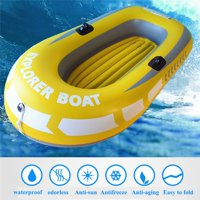 Fysho Thick Wear-resistant Inflatable Kayak Canoe 1/2 Person Fishing Drifting Diving Swimming Water Sports