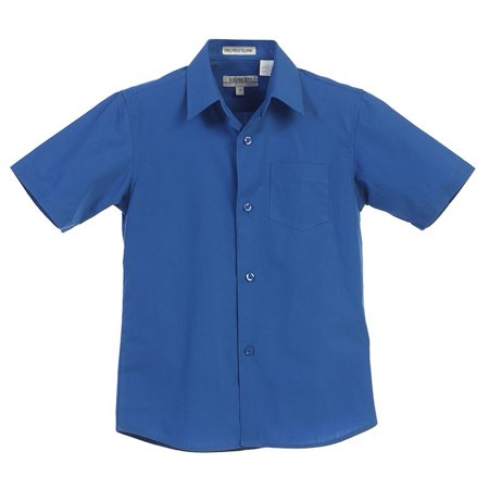 Gioberti Little Boys Royal Blue Solid Color Button Down Short ...