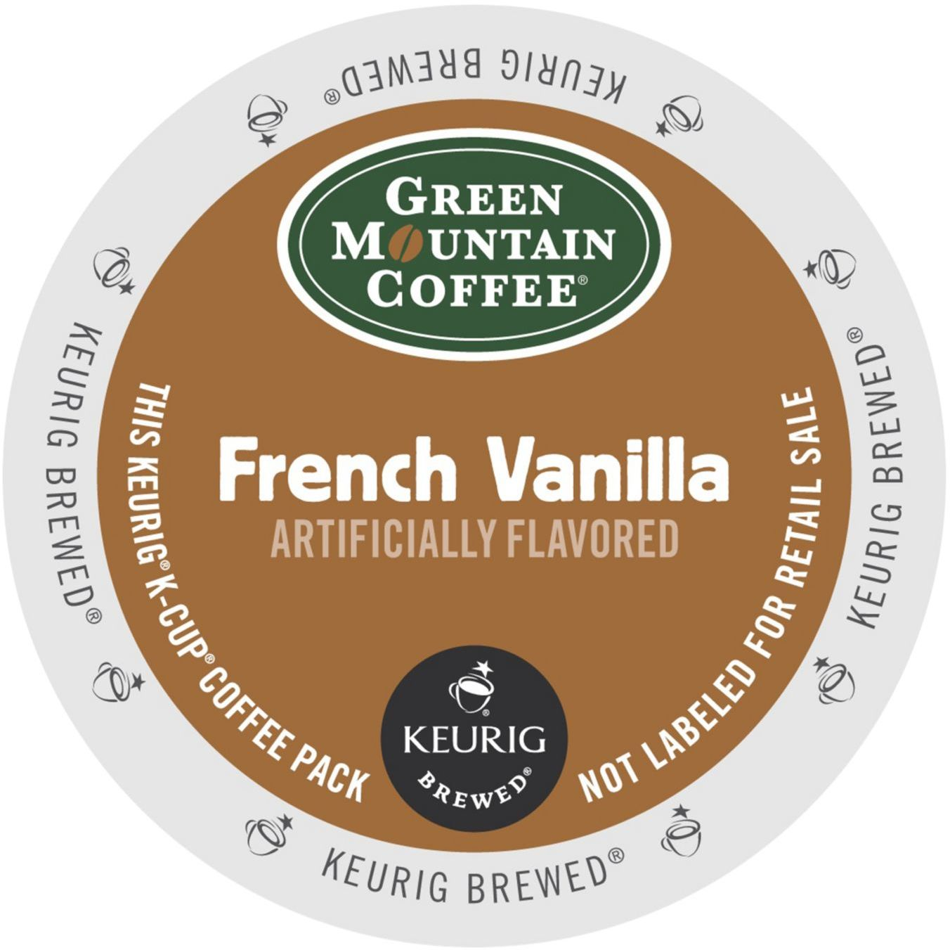 Green Mountain French Vanilla Coffee, K-Cup Portion Pack for Keurig Brewers (96 Count) (4x16oz)