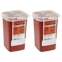 2 Pack of Sharps Containers 1 Quart
