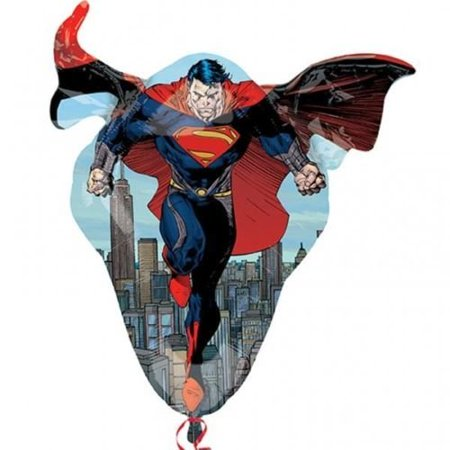 Man Of Steel Supershape Foil Balloon, By - Superman Balloon