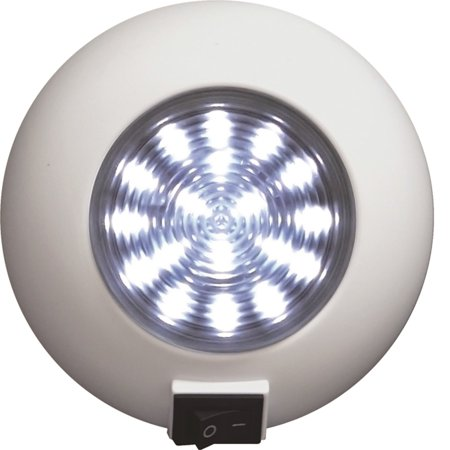 SeaSense Surface Mount 18 LED Super Bright Light - White SKU: 50023850 with Elite Tactical Cloth - Led Cloths
