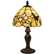 Amora Lighting Tiffany Style AM044TL08 14.5-inch Floral Mini Table Lamp