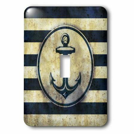 3dRose Nautical – grunge sea anchor, Single Toggle Switch (Nautical Switch Plate)