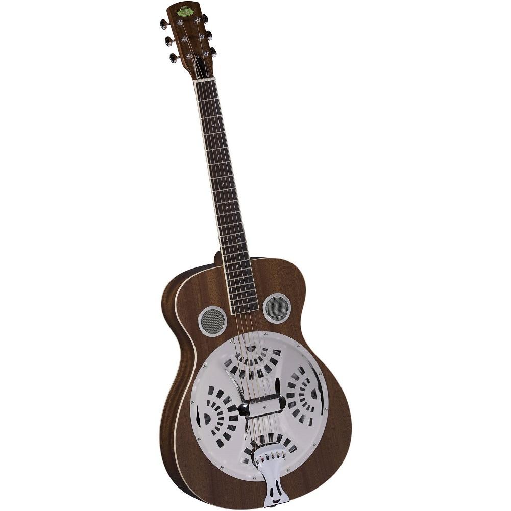 Regal RD-30M Studio Series Roundneck Resophonic Guitar, Natural Mahogany by Regal