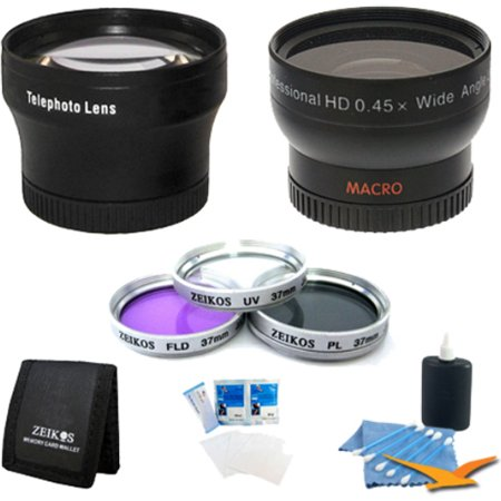 Special Pro Shooter 37Mm Lens Kit For Sony Hdr Cx160 Camcorder   37Mm Uv  Polarizer   Fld Deluxe Filter Kit  Pro  45X Wide Angle Lens  Pro 2X Teleconverter  3 Card Memory Card Wallet  57  Full Size T