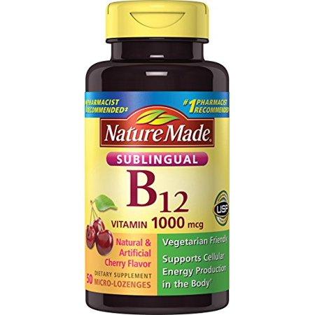 Nature Made Vitamin B-12 1000 MCG Sublingual, 50