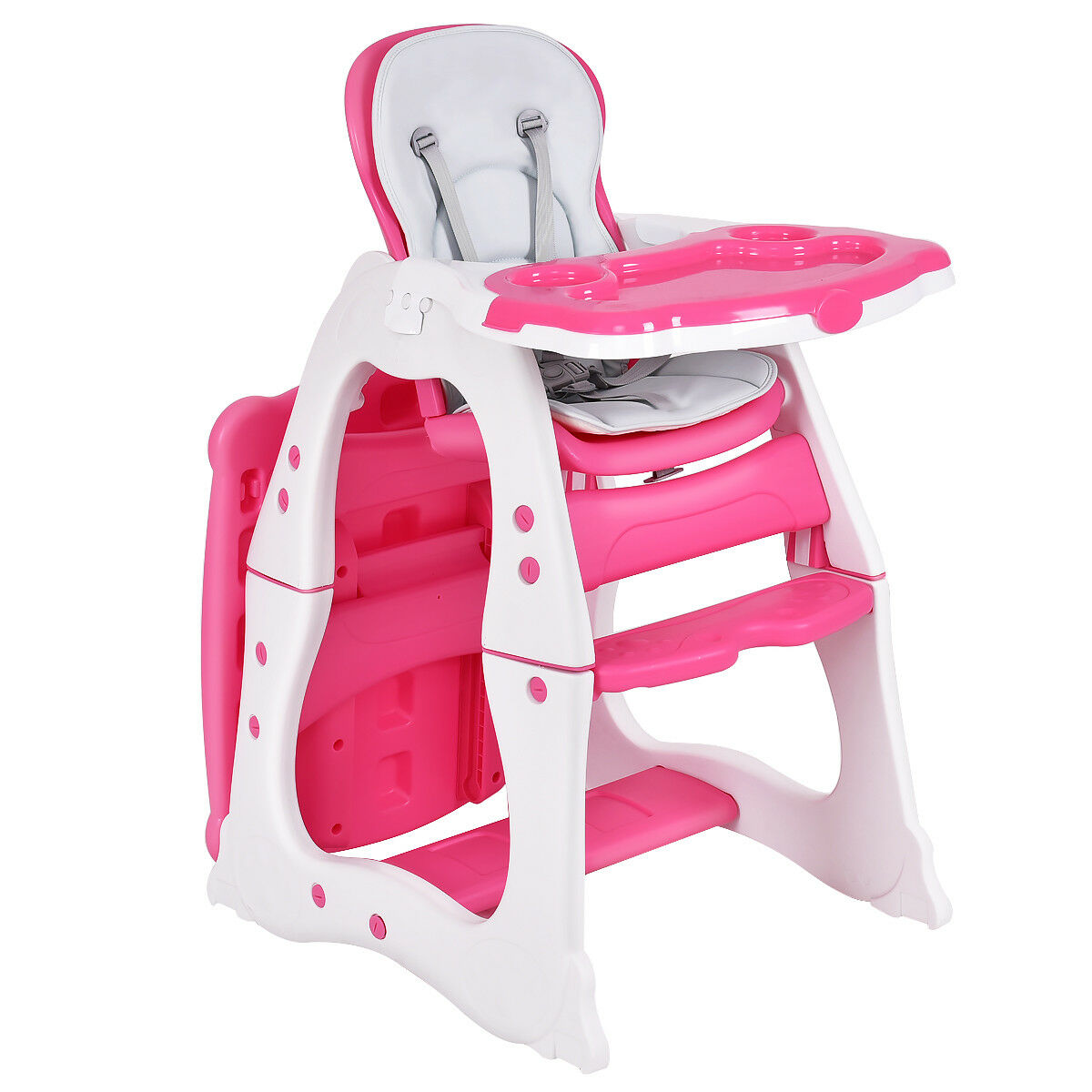 3 in 1 Baby High Chair Convertible Play Table Seat Booster Toddler Feeding Tray - image 10 de 10
