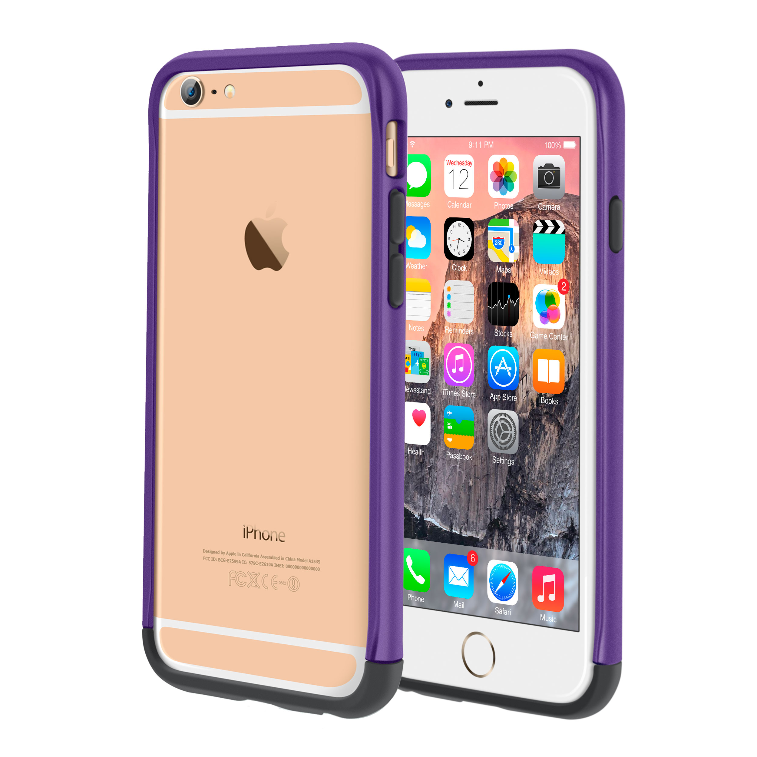 iPhone 6s Case, roocase iPhone 6 Bumper (Open Back Design) Ultra Slim Lightweight with Corner Edge Protection [Strio Bumper] Case Cover for Apple iPhone 6 / 6s (2015)
