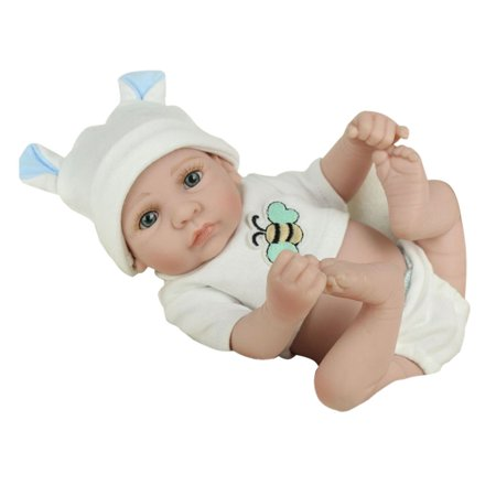 28cm Lovely Kids Reborn Baby Doll Washable Soft Vinyl Lifelike Newborn Doll Girl Boy Best Birthday Gift For Boys Girls - image 4 de 8