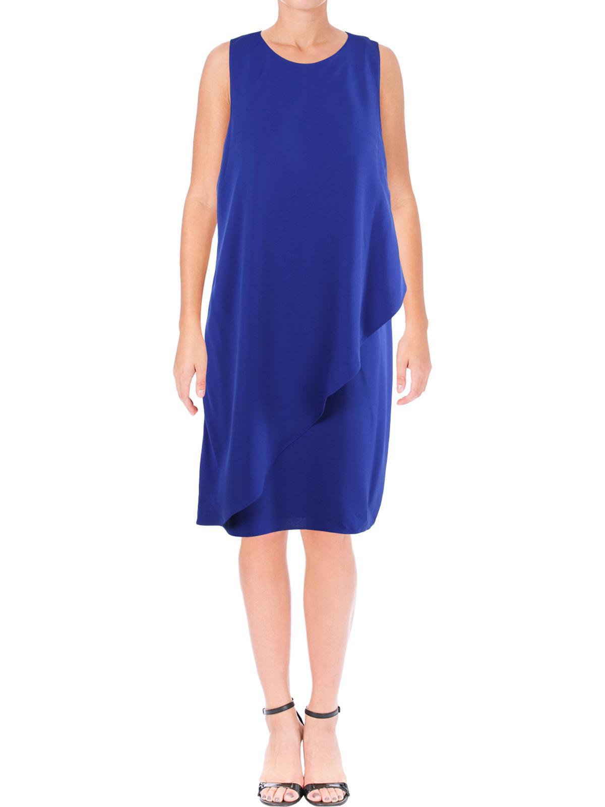 Lauren Ralph Lauren Womens Vadrata Asymmetrical Tiered Mini Dress