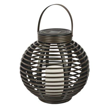 Paradise Garden Lighting Solar Rattan Basket with - Paradiso Garden
