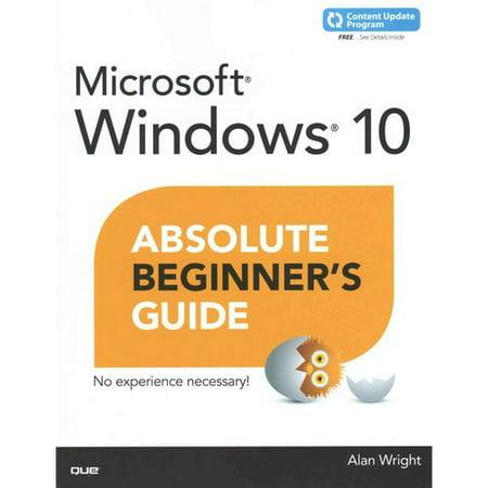 Windows 10 Absolute Beginners Guide
